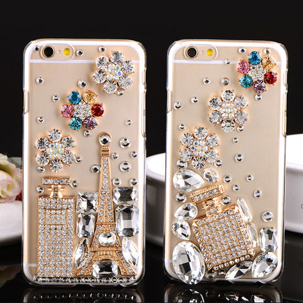 蘋果 IPhone XS Max XR IX i8 Plus i7 i6S i5 SE 手機殼 水鑽殼 客製化 訂做 香水鐵塔
