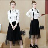 百搭上衣半身裙中大尺碼L-5XL3152大碼女裝兩件套新款胖MM時尚寬鬆顯瘦遮肉減齡套裝F3032-A1號公館