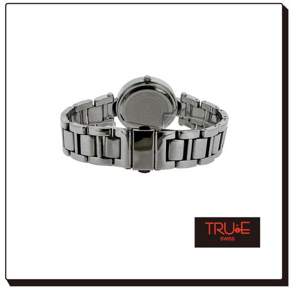 瑞士 TRUE 瑞時寶嘉  TC150190  英倫風尚亮銀刻度腕錶 /34mm (黑)