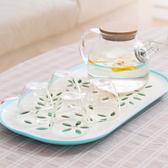純色雙層花瓣瀝水盤 蔬果 清洗 茶盤 托盤 簍空 置物 廚房 托盤 瀝乾 通風【Q254】MY COLOR
