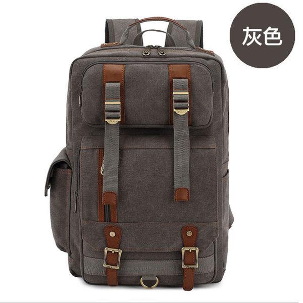 韓版帆布後背包 16吋筆電包 多功能雙肩包 NOTEBOOK筆電包 旅行背包袋 學生書包 Nice Bear香奈熊