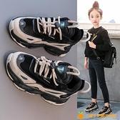 女童鞋運動鞋新款春秋款兒童老爹鞋百搭中大童二棉鞋子【小橘子】