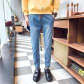 九分褲哈倫褲牛仔褲男寬鬆束腳青少年小腳修身褲子潮 森雅誠品