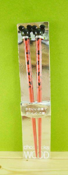 【震撼精品百貨】Micky Mouse_米奇/米妮 ~造型木筷-紅