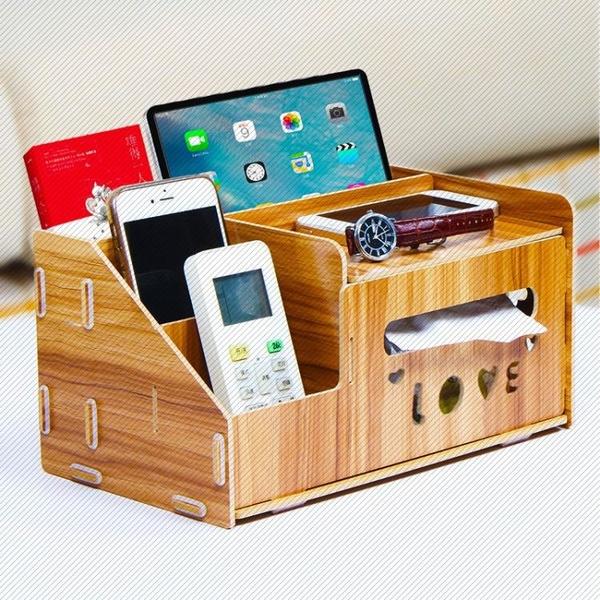 抽紙盒紙巾盒客廳茶幾遙控器收納盒創意家用簡約可愛