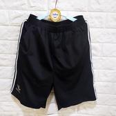 棒棒糖童裝(B53066)夏男大童鬆緊腰黑色條紋邊休閒運動短褲 140-180(大腰褲)