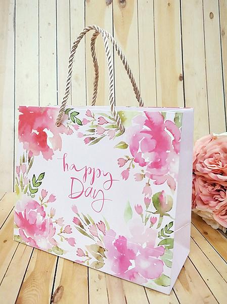 Happy day紙袋 婚禮小物 二次進場 開幕禮 姊妹禮 包裝盒 生日 耶誕節【皇家結婚百貨】
