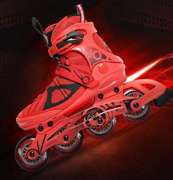 食尚玩家 美洲獅溜冰鞋成人直排輪輪滑鞋成年男女旱冰鞋休閑滑冰鞋