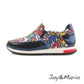 【Joy&Mario】歐美塗鴉運動休閒鞋 - 73033W NAVY