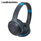 鐵三角藍芽耳罩式耳機ATH-S200BT - 藍【愛買】