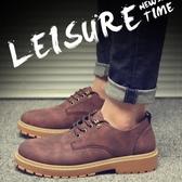 馬丁鞋男秋冬季休閒短靴加絨刷毛保暖棉鞋低幫工裝潮鞋英倫男大頭皮鞋