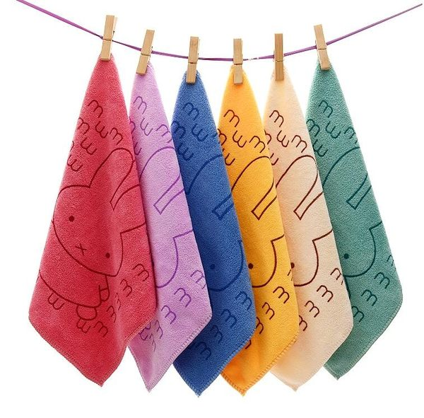 【TT】幼稚園吸水卡通毛巾 小方巾 兒童洗臉小毛巾柔軟擦手巾