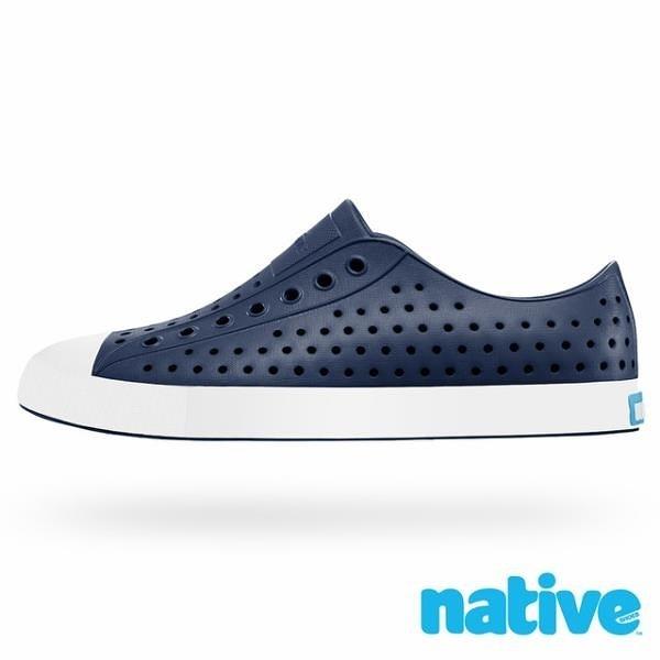 【南紡購物中心】【native】JEFFERSON 奶油頭休閒鞋-海軍藍x貝殼白(男/女)