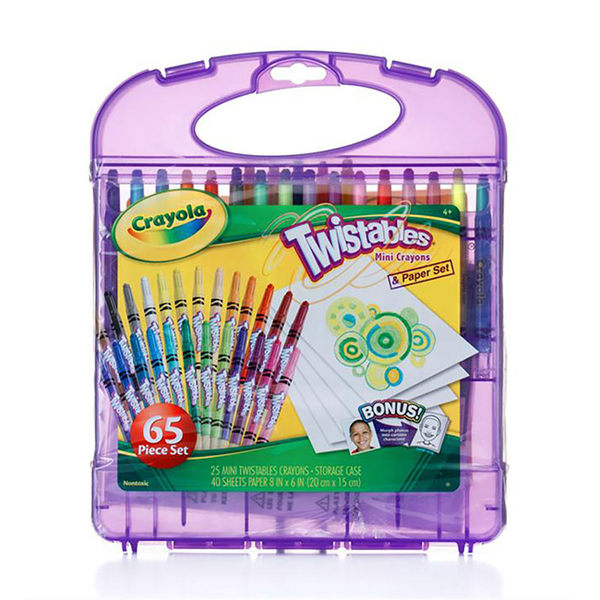 美國Crayola繪兒樂 迷你旋轉蠟筆套裝25色 麗翔親子館