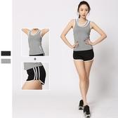 瑜珈服運動套裝(兩件套)-吸濕排汗速乾背心女健身衣2色73mt18【時尚巴黎】