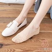 純棉蕾絲短襪日系大碼夏季淺口隱形襪子女【少女顏究院】