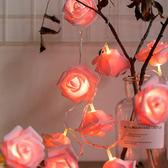 少女心led彩燈閃燈串燈帶尾插玫瑰滿天星年會夢幻情人節布置元宵 快速出貨全館免運