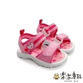 【樂樂童鞋】【台灣製現貨】MIT彈力涼鞋-粉 C027-1 - 現貨 台灣製 涼鞋 女童鞋 男童鞋 小童鞋