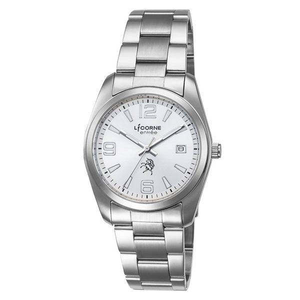 【LICORNE】恩萃 Entrée 簡約時尚設計都市腕錶 (白面/白 LT083BWWA-3)