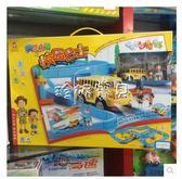 軌道車 奧樂22873智慧感應軌道燈光校園巴士 兒童益智軌道玩具禮盒 珍妮寶貝