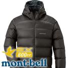 【Mont-Bell 日本 Light Alpine Down 男800連帽 羽絨外套 深棕】 1101430/連帽羽絨外套