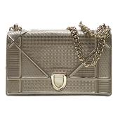 Dior 迪奧金色串珠x香檳金漆皮肩背包 Diorama Flap Bag金色限定【二手名牌BRAND OFF】