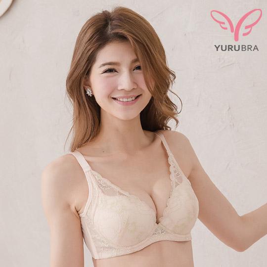 【玉如內衣】輕甜裸紗內衣。集中。機能。副乳。托高。B.C罩。台灣製。※0306膚