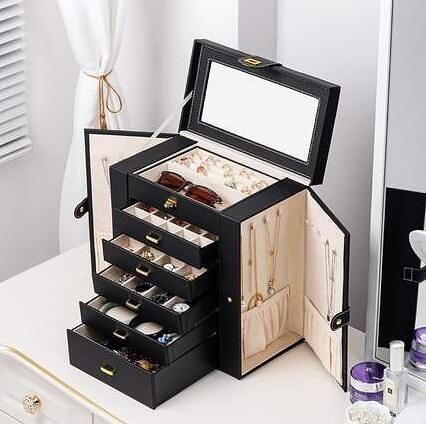 首飾盒 首飾盒多層大容量手飾品高檔歐式手表珠寶收拾收納盒結婚網紅同款【快速出貨八折優惠】