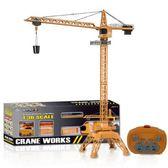 塔吊起重機電動遙控無線男孩塔吊工程車吊車男女兒童玩具模型 伊莎公主
