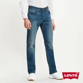 Levis 男款 501排釦直筒牛仔褲 / 中藍刷白 / 彈性布料