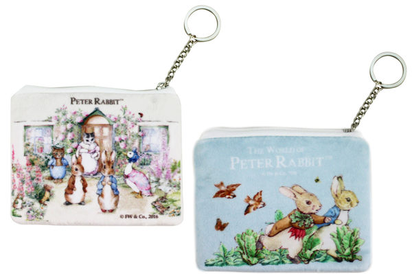 【卡漫城】 彼德兔 細絨毛 零錢包 藍白 2選1 ㊣版 拉鍊式 收納包 證件 票卡包 Peter Rabbit 比得兔