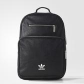 愛迪達 adidas 三葉草 中款 皮革 後背包 黑色 BK6946 男女中包大包/澤米(全館任二件商品免運費)