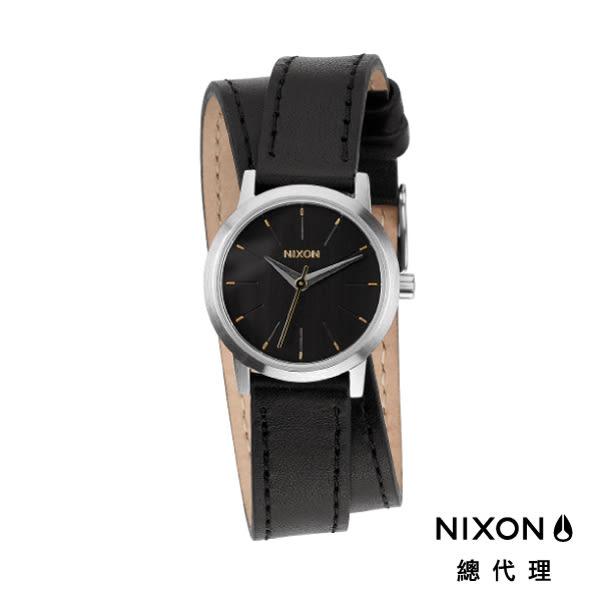 NIXON 手錶 原廠總代理 A403-000 KENZIE WRAP 黑色 潮流時尚皮錶帶 男女  生日 情人節禮物