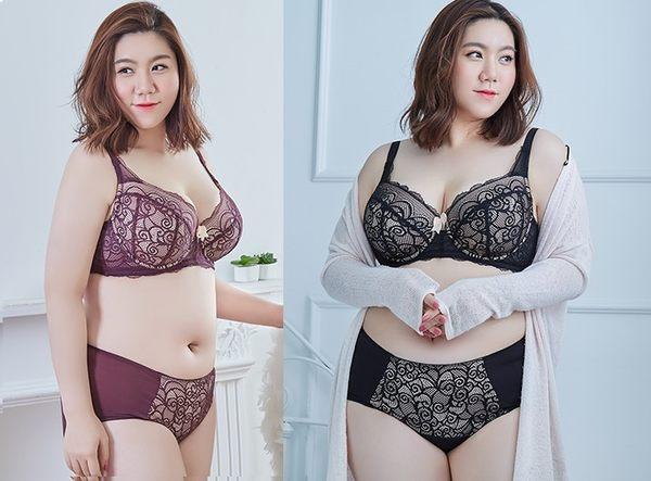 RoseBra 美胸大尺碼專家 蕾絲細緻緹花聚攏集中波波美胸罩 兩色