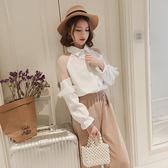白襯衫女長袖寬鬆韓版百搭學生