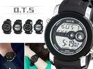 【手錶】黑色誘惑都市酷感多功能電子錶...