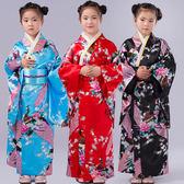 和服古裝女日本兒童和服傳統復古萬圣節學生合唱演出舞蹈錶演日式服裝 交換禮物