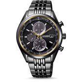 星辰CITIZEN 光動能黑鋼三眼計時腕錶CA0457-82E 公司貨 全球1年保固