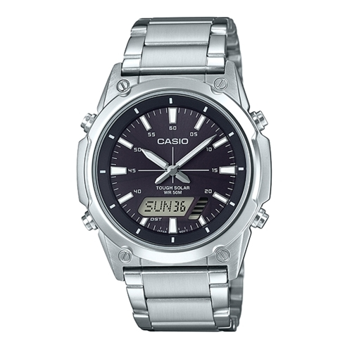 CASIO 卡西歐/太陽能電子簡約腕錶/AMW-S820D-1A
