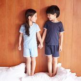 兒童夏季男童空調服女童短袖夏裝睡衣薄套裝