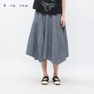 a la sha 牛仔條紋創意裙