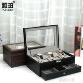 歐式雙層手錶收納盒戒指耳釘首飾盒大容量珠寶箱整理盒子腕錶盒『潮流世家』