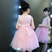 黑五好物節女童連身裙夏裝公主裙2018新款童裝女孩韓版夏季兒童禮服洋氣裙子 易貨居