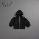Queen Shop【02040624】童裝 親子系列 滑面連帽風衣外套*現+預*