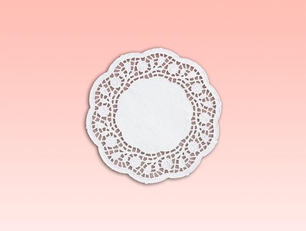 250入 7.5吋 圓形花邊紙 餐墊 CKR190