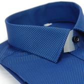 【金‧安德森】深藍色方格紋黑釦窄版長袖襯衫