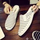 歡慶中華隊半拖鞋男夏季透氣半拖鞋男透氣休閒韓版潮男女懶人字涼鞋個性青年帆布拖鞋