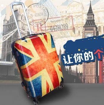 復古行李箱 拉桿箱 登機箱 英國國旗 密碼箱 萬向輪旅行箱20吋米字旗 【噠噠鈴原創館】