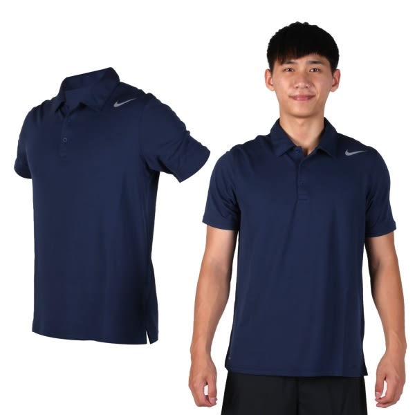 NIKE 男翻領短袖針織衫(立領 網球 POLO衫 短T 免運≡排汗專家≡
