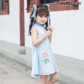 中國風唐裝夏民族風公主寶寶漢服連衣裙